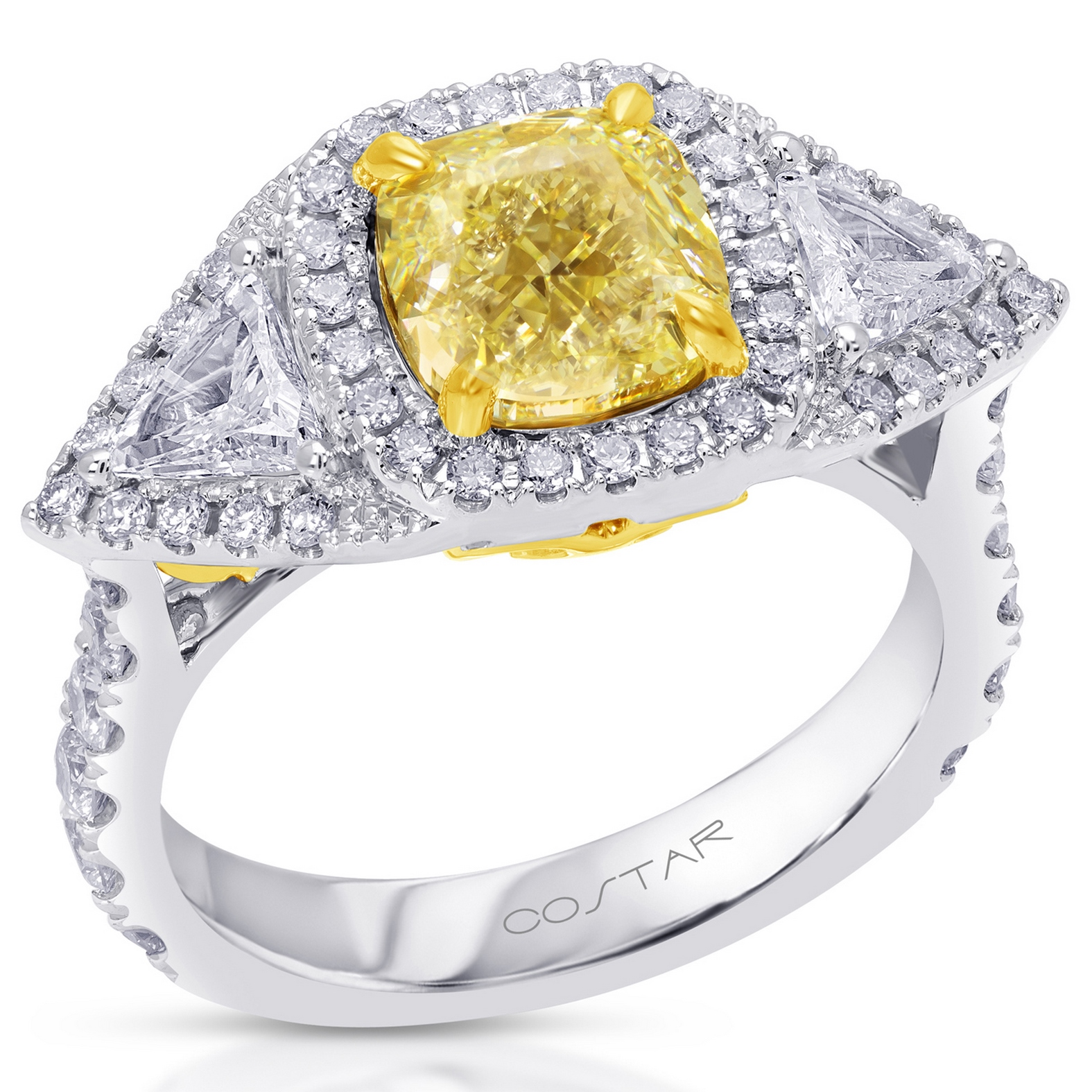 Fancy Yellow Engagement Rings