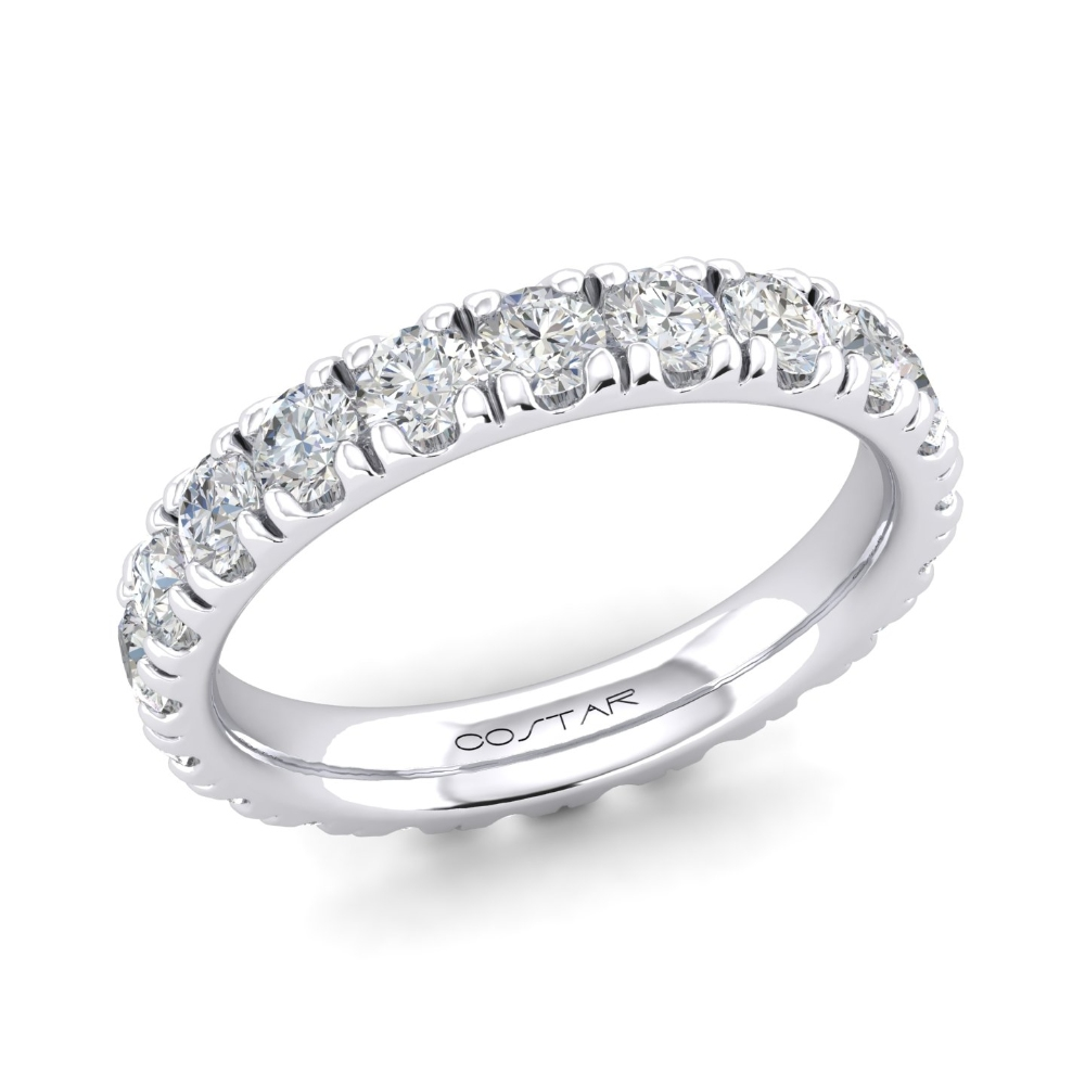 French Pave Eternity Bands