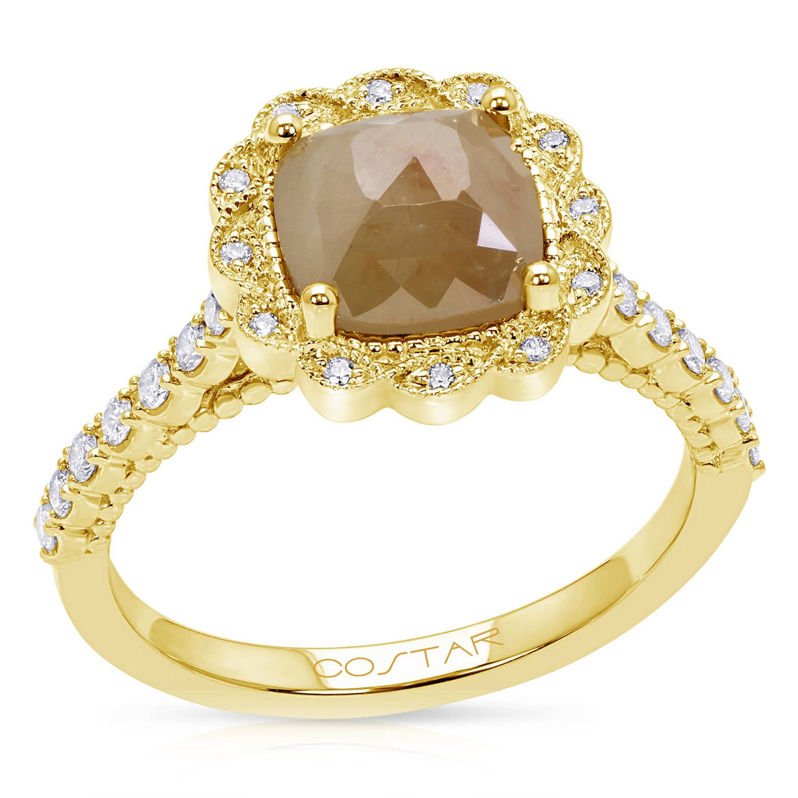 Rustic Diamond Rings